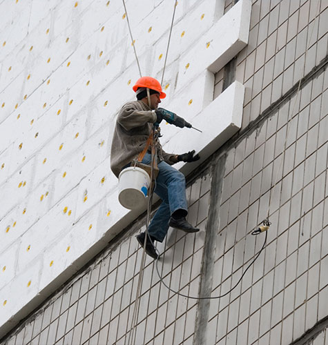 Утепление фасада многоквартирного дома в Ижевске